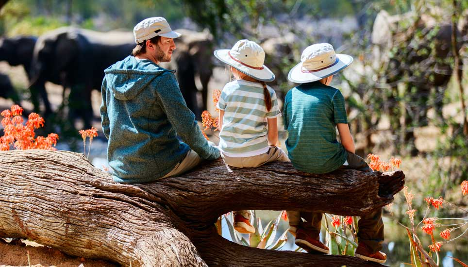family on safari